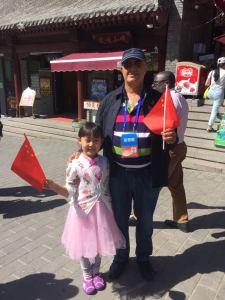 à l'entrée des murailles de Chine non loin de Peking