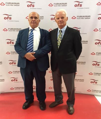 M.Peter Schultz et M.Khaouja Ahmed lors de l'inauguration de l'usine OFS de Tanger le 9 mai 2018.